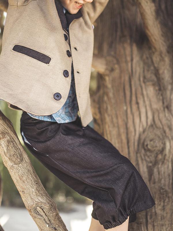 Pantalón denim media pierna